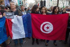 В Европе проходят демонстрации в поддержку Туниса