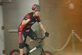 Поляк побил рекорд: 3139 ступеней на велосипеде