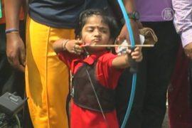 Трехлетняя лучница побила рекорд Индии