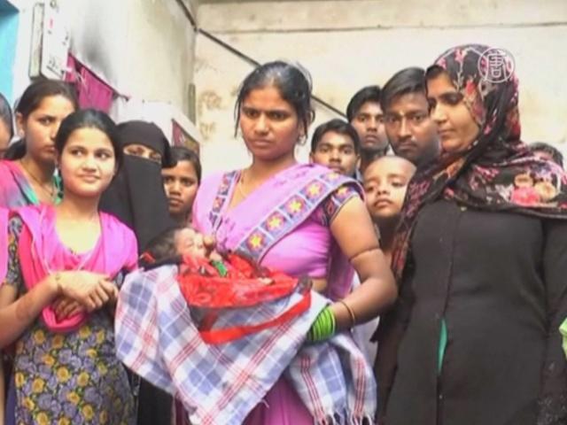 В Индии родилась девочка с «хоботом»