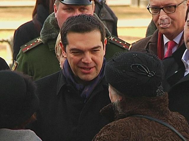 Премьер-министр Греции прибыл в Москву
