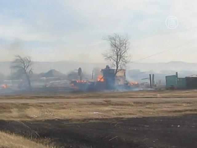 Пожары в Хакасии потушили