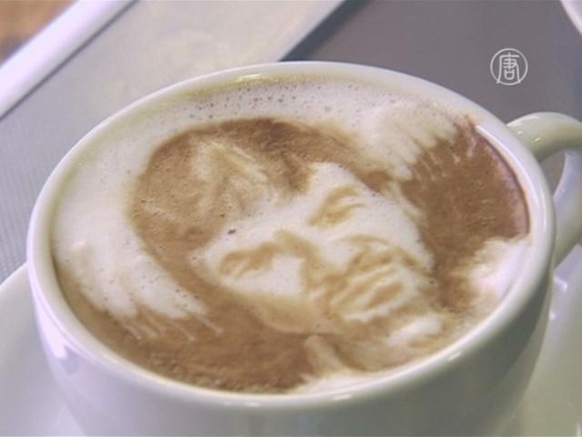 Рисунки на кофе стали искусством