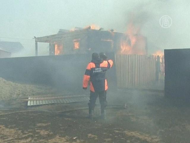 Площадь пожаров в Забайкалье удвоилась