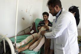 Больница в Сане переполнена после воздушной атаки