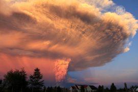 Чилийский вулкан Кальбуко беспокоит Аргентину