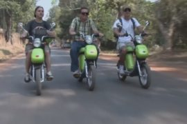 Электровелосипеды спасают туристов в Камбодже