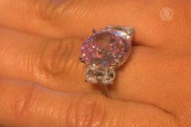 Редчайший розовый бриллиант продадут в Женеве