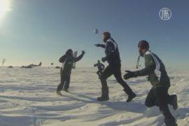 В регби впервые сыграли на Северном полюсе