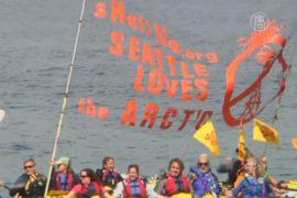 В Сиэтле протестуют против нефтедобычи в Арктике