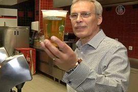 На стадионе в Праге появилось «резвое» пиво