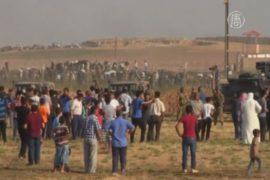 Тысячи сирийцев ожидают у границы с Турцией