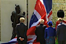 Принц Чарльз открыл памятник гвардейцам в Ватерлоо