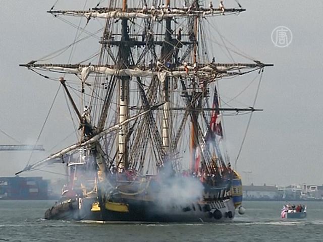 Копия фрегата XVIII века пересекла Атлантику