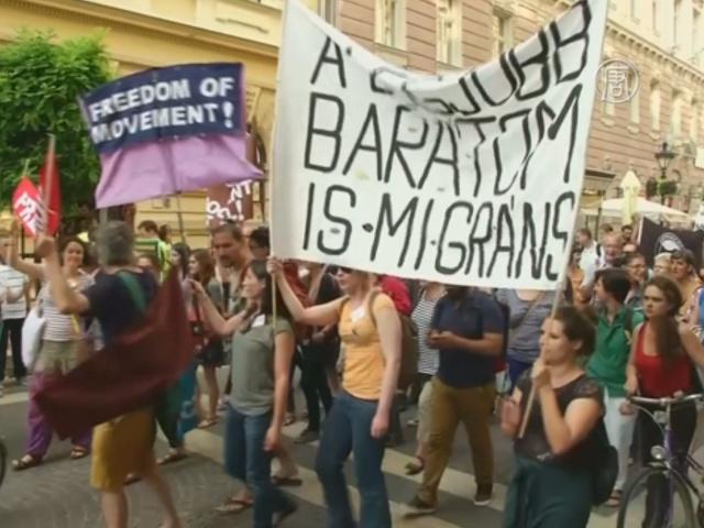Венгры протестуют против ограждения на границе