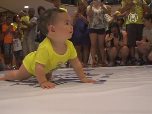 Кто быстрее ползает, выяснили младенцы в Нью-Йорке