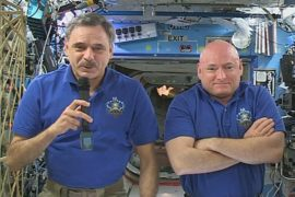 Интервью из космоса дал экипаж МКС