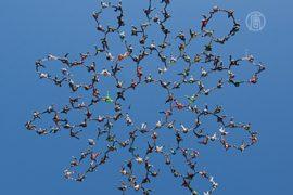 Фигуру в небе сформировало 165 скайдайверов