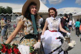 Скарлетт О'Хара пересела на велосипед в Москве