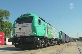 Поезд преодолевает 13 тысяч километров