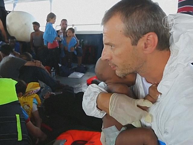 В Средиземном море спасли 1000 мигрантов