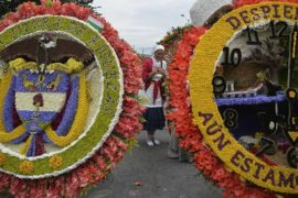 Колумбийцы чествуют цветы