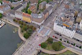 Дания: рекорд Гиннесса за картину длиной в улицу