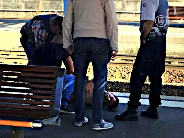 Стрельба в поезде: обнародовали видео задержания