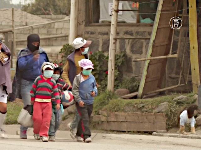 Вулкан Котопахи укрыл пеплом города Эквадора