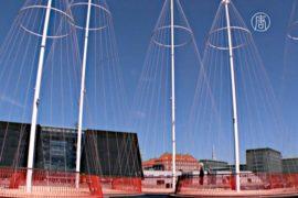 Мост из круглых платформ украсил Копенгаген