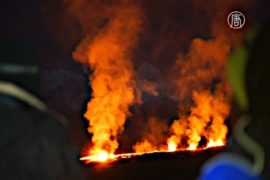 Извержение вулкана вызвало ажиотаж на Реюньоне