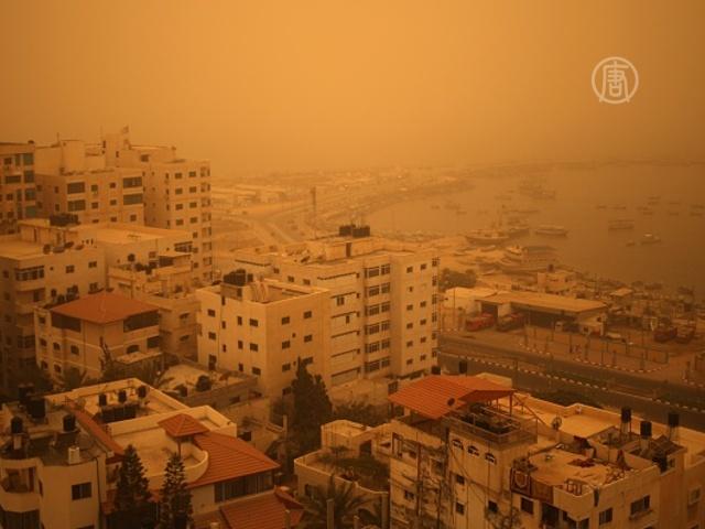 Песчаная буря накрыла Ближний Восток