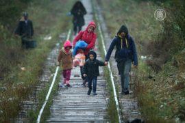 Сильные дожди осложняют путь беженцев