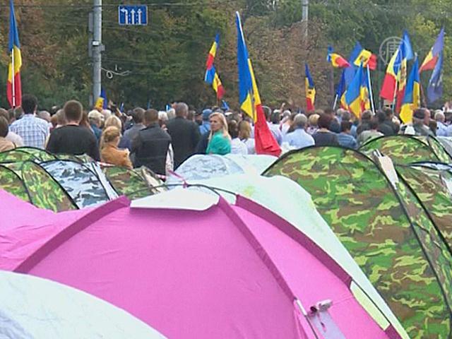 Бессрочный протест в Молдове продолжается