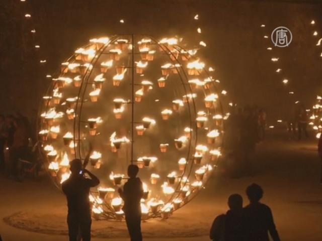 Световые инсталляции украсили португальский город