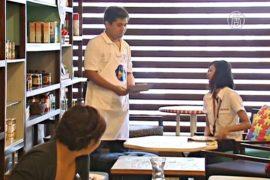 В филиппинском кафе работают больные аутизмом