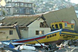 Рыбацкий город в Чили – в руинах после цунами
