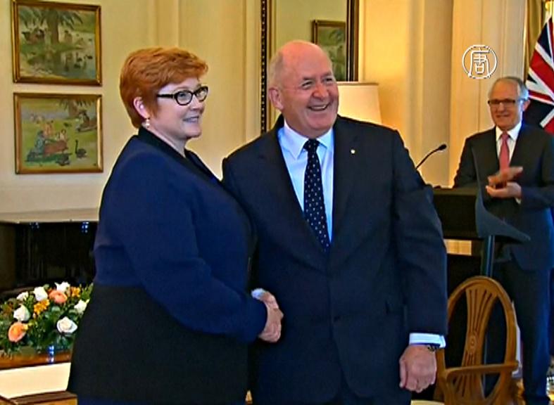Министром обороны Австралии впервые стала женщина
