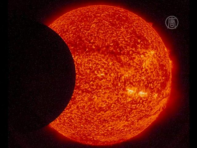 НАСА опубликовало запись двойного затмения Солнца