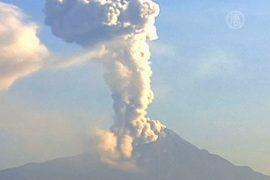 Вулкан Колима снова напугал мексиканцев