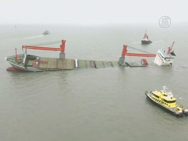У берегов Бельгии столкнулись два судна