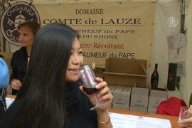 Вино дегустировали на фестивале урожая в Париже