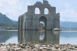 Обмеление водоёма обнажило храм XVI века
