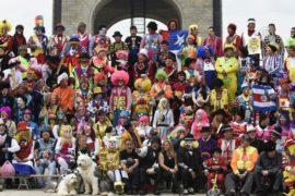 Слёт клоунов 20-й раз прошёл в Мехико