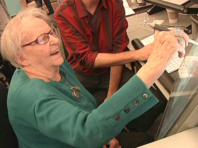 97-летняя американка посетила Google