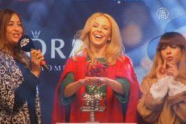 Кайли Миноуг открыла сезон Рождества в Лондоне