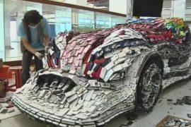 Тайванец сделал автомобиль из телефонов