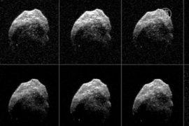 НАСА: фото астероида в момент сближения с Землёй