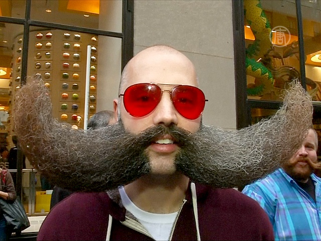 Бородачи и усачи прошли парадом по Нью-Йорку