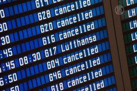 Lufthansa отменила почти 1000 рейсов из-за стачки